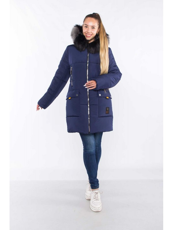 Куртка зимняя модель Полина сезон зима 2021 - 2022